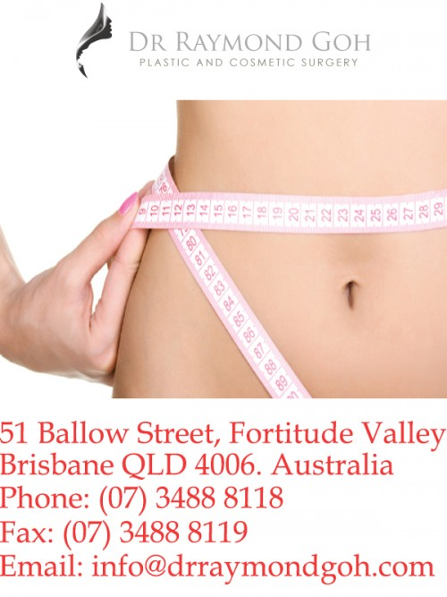 A tummy tuck is the surgical removal of excess skin or fatty deposits from the abdomen, along with the repositioning of abdomen muscles into a tighter and more contoured form. Call Dr Raymond Goh Today Ph. (07) 3488 8118
